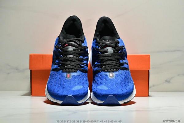 d658626b96c9ac47bee9c33fe1dad5f9 - Nike Air Zoom Vomero 14代 內建4/3氣墊 馬拉鬆拉線緩震運動跑步鞋 情侶款 寶藍白黑