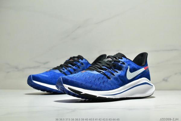 df2b2387594c01bea8f3fd993fcb9a98 - Nike Air Zoom Vomero 14代 內建4/3氣墊 馬拉鬆拉線緩震運動跑步鞋 情侶款 寶藍白黑