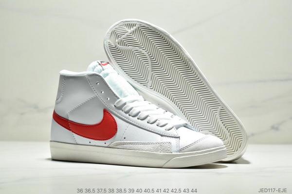 e57b2e6ef81c8f4ab2945b3ab83483ce - NIKE BLAZER MID  77 VNTG012613 高幫開拓者頭層皮經典板鞋 情侶款 白紅