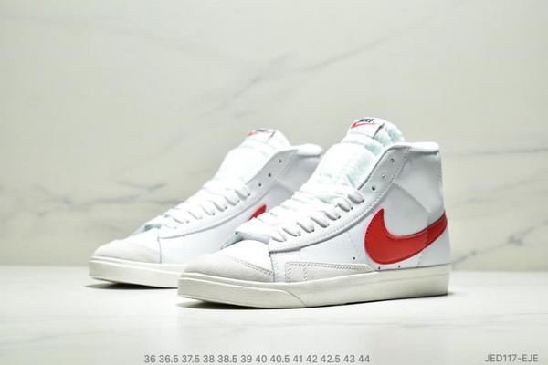 e5ce499e4c21375100f2d2cd9a8f21fa - NIKE BLAZER MID  77 VNTG012613 高幫開拓者頭層皮經典板鞋 情侶款 白紅