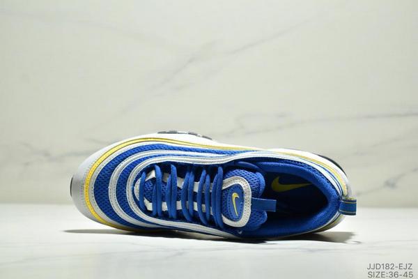 e8642d2e44c57184368dc109adf14c5c - NIKE AIR MAX 97 OG UNDFTD 97復古全掌小氣墊減震跑鞋 情侶款 白寶藍黃