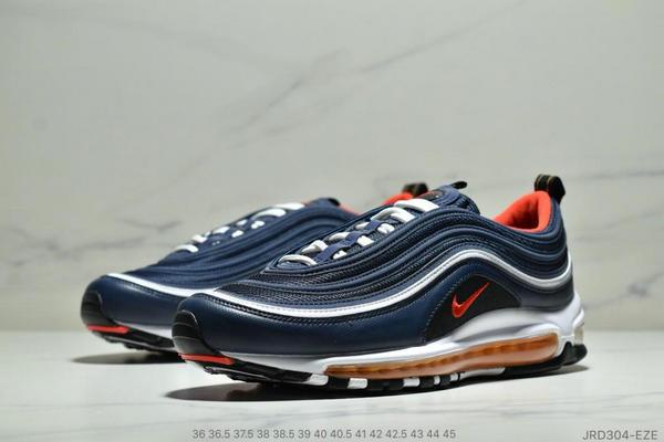 e8d196438c814098599fe3268fa4956e - Nike Air Max 97 子彈復古全掌氣墊休閒運動鞋 男女款 深藍白紅