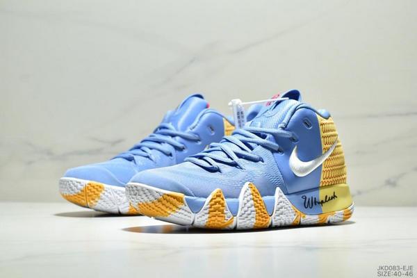 e91395df93473c62730581cf795276c7 - Nike Kyrie 4 Ep 歐文4代高幫運動籃球戰靴 男款 藍黃白