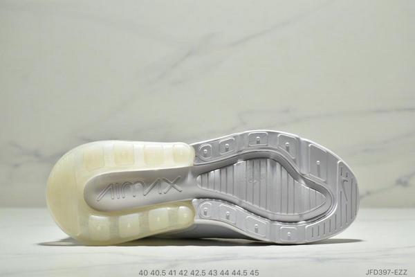 ea4129f7e47daad340763bfaacf436a8 - NIKE Air Max 270 Triple Black 系列 後跟半掌高彈氣墊 休閒運動 男鞋 白色