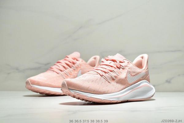 f3053de6667dcb4da3f8d8469350a9d0 - Nike Air Zoom Vomero 14代 內建4/3氣墊 馬拉鬆拉線緩震運動跑步鞋 女款 粉白