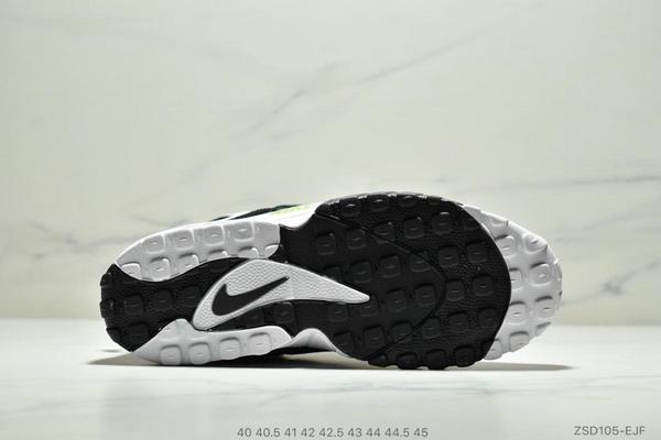 f3db7978819e31ba8b15b22637a8c6d3 - Nike Sportswear Air Max Speed Turf 加速實驗系列復古氣墊籃球鞋黑白奧利奧 男款 黑白綠