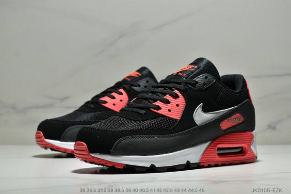 f6da0228332e6ad19447da3f60921109 - Nike Air Max 90 網面氣墊跑鞋 經典男女鞋 黑紅