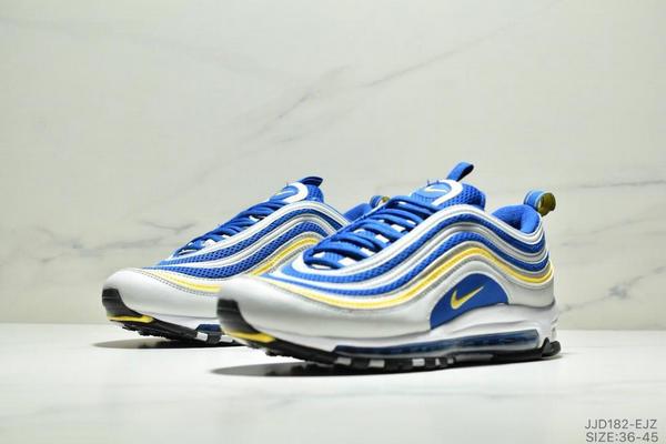 ff110d43372bcbc93cc8a5612c8a0059 - NIKE AIR MAX 97 OG UNDFTD 97復古全掌小氣墊減震跑鞋 情侶款 白寶藍黃