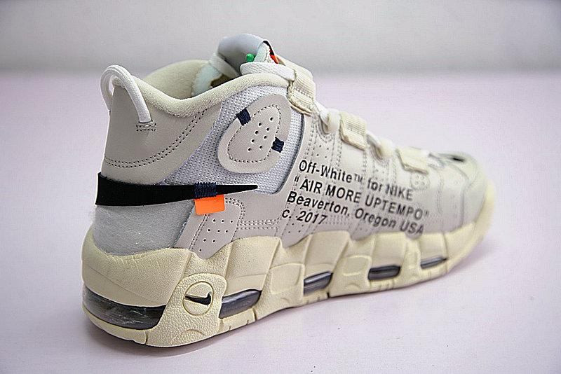 03cd9e61bfd6ba27eaf5f22d67041d61 - Off-White x Nike Air More UptempoOW奶油黃白黑橘 情侶鞋 902290-012-