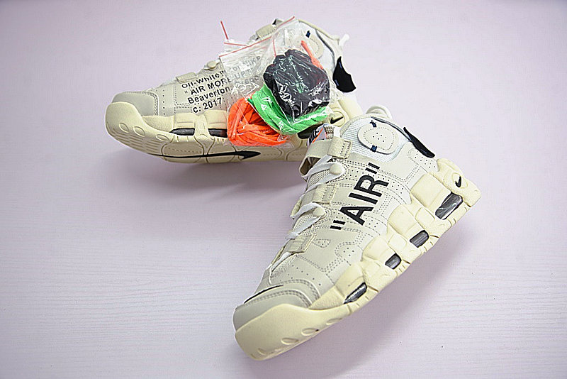 1699c909a9f8afa9aa017cbd6de7092b - Off-White x Nike Air More UptempoOW奶油黃白黑橘 情侶鞋 902290-012-