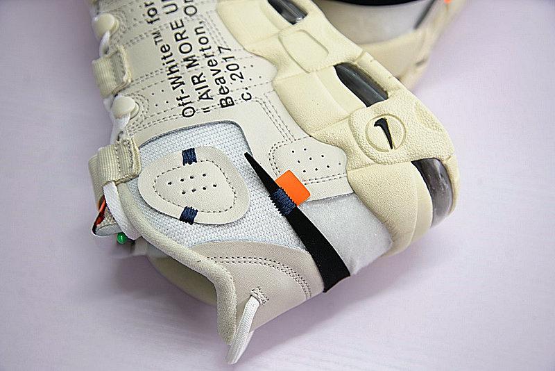 96a24d24afd88b841b5464c42f572382 - Off-White x Nike Air More UptempoOW奶油黃白黑橘 情侶鞋 902290-012-