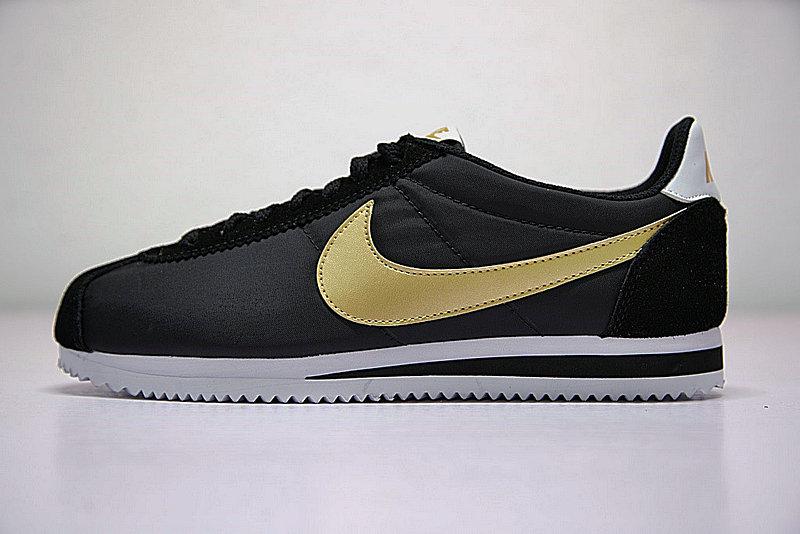 26f6187e5a7be1dd61296324ea63e846 - 男鞋 Nike Classic Cortez 阿甘 百搭 慢跑鞋  黑白金 807471-012