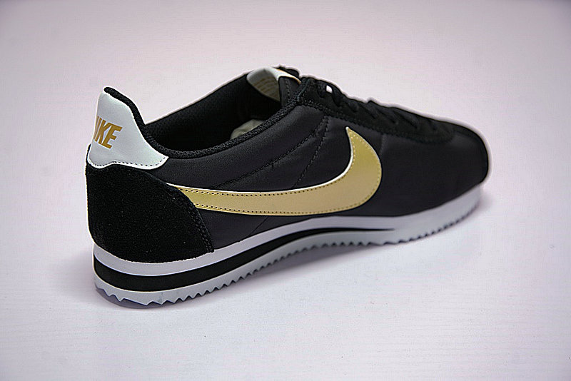 379bb5d03b6b9a74ac9ae1b5b34c9255 - 男鞋 Nike Classic Cortez 阿甘 百搭 慢跑鞋  黑白金 807471-012