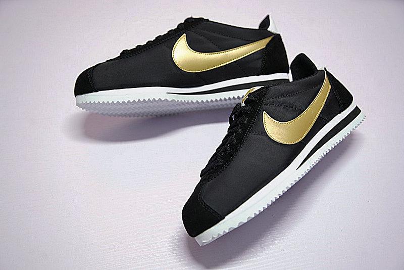 bd6c66d4b393afdac25bd7356a3cf9f3 - 男鞋 Nike Classic Cortez 阿甘 百搭 慢跑鞋  黑白金 807471-012