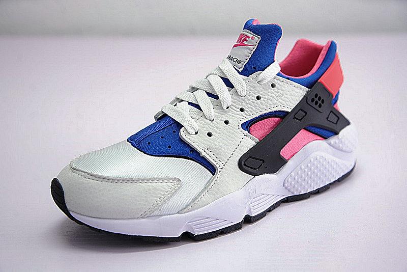 2435fc27a26d516d685fca3a9e265d81 - 情侶鞋 Nike Air Huarache Run OG初代華萊士復古慢跑鞋 OG白藍桃粉 AH8049-100-