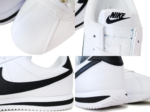 272e8526caf53693281247a2a66c41a3 - Nike Cortez 經典款 阿甘鞋 白皮面黑鉤 情侶鞋 819719-100