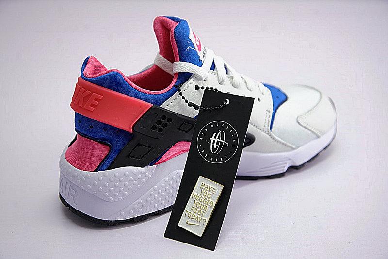 55c9ddc2645c506c87eb8fc67b829e87 - 情侶鞋 Nike Air Huarache Run OG初代華萊士復古慢跑鞋 OG白藍桃粉 AH8049-100-