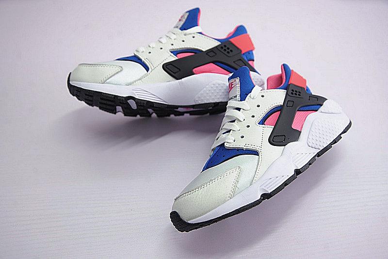 96fc76ab0d5dd09b1dc4109a1261e508 - 情侶鞋 Nike Air Huarache Run OG初代華萊士復古慢跑鞋 OG白藍桃粉 AH8049-100-