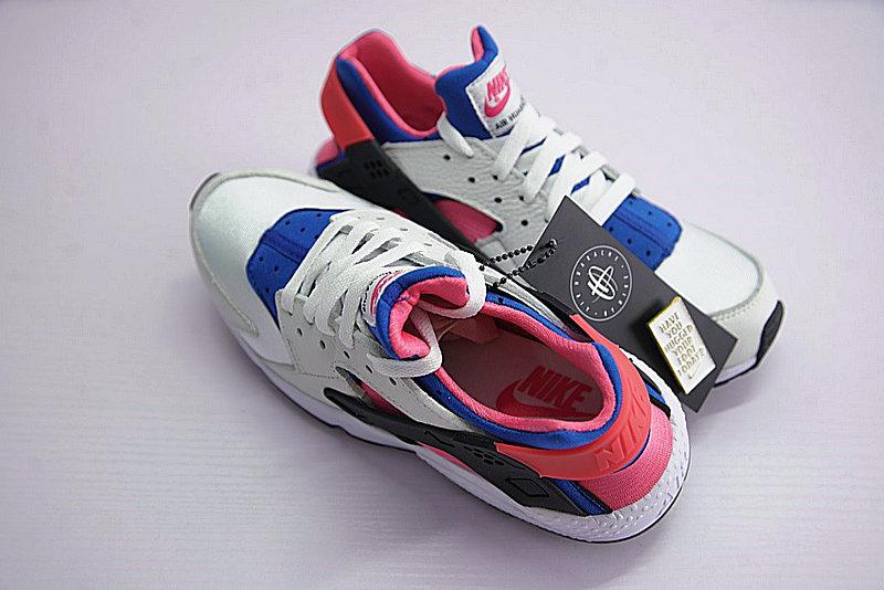 e069836094a2cd4085624176602aba71 - 情侶鞋 Nike Air Huarache Run OG初代華萊士復古慢跑鞋 OG白藍桃粉 AH8049-100-