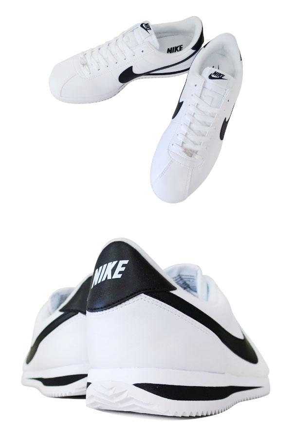 eabd124f528ec603677c38e96039b348 - Nike Cortez 經典款 阿甘鞋 白皮面黑鉤 情侶鞋 819719-100