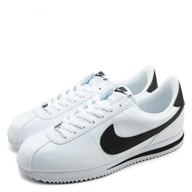 f33fc8028b5920e5c426ea4a7eb983e1 - Nike Cortez 經典款 阿甘鞋 白皮面黑鉤 情侶鞋 819719-100