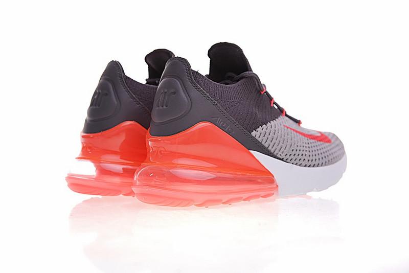 0127847f836974ce186b07cdd0c41b41 - Nike Air 270 Flyknit 飛織 氣墊 深灰桔紅 情侶款 慢跑鞋 時尚 百搭 AO1023-202
