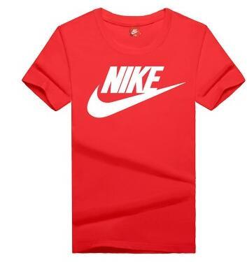 04bd8f62254bfae28bf9b15f7ad6d2f4 - NIKE 情侶款 夏季新款 基礎 純棉T恤 男女款 紅白 經典 百搭