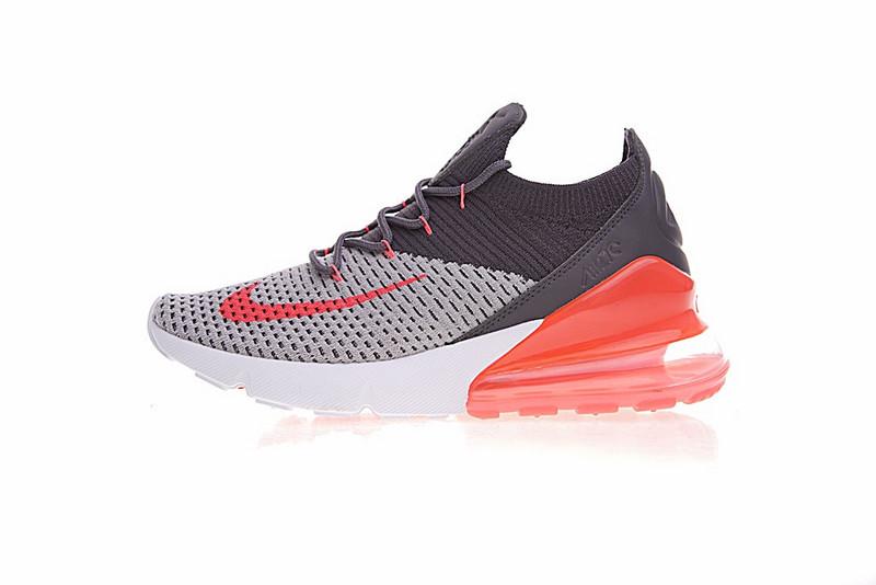 04c1f934cc9d1b3ff8c85ca986b67a27 - Nike Air 270 Flyknit 飛織 氣墊 深灰桔紅 情侶款 慢跑鞋 時尚 百搭 AO1023-202