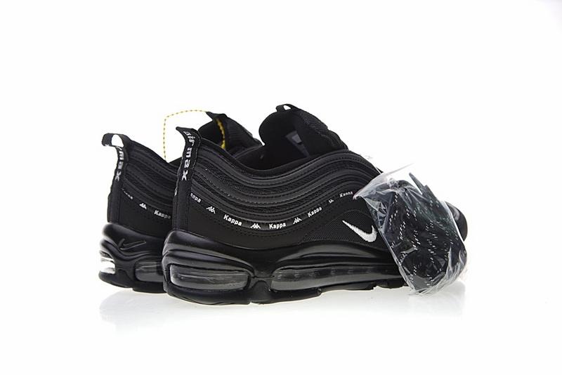 0a3c46d639084c1d1d968a17b3f761d7 - Kappa x Nike Air Max 97系列 百搭 復古 氣墊 慢跑鞋 黑色 情侶款