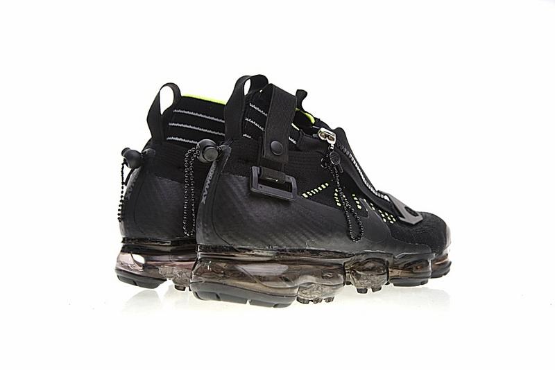 0d00645c63ac47b75498eca2ffb2deb8 - Nike Air VaporMax 機能 拉鏈 中筒 氣墊慢跑鞋 黑綠 男款 休閒 百搭 899473-003