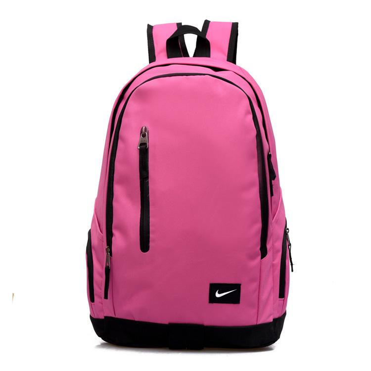 13d0f8c925ad98ad68fe48852c5ac620 - Nike 豎拉鏈款 雙肩包 運動包 旅行包 帆布包 書包 粉色 時尚百搭 寬30*厚16*高47