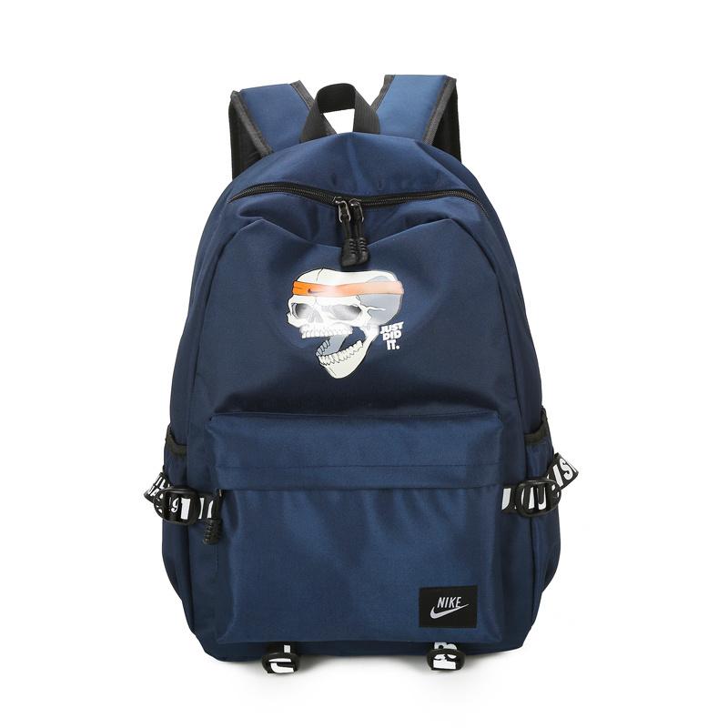 16bd98805d5d3366c1953775b15378ce - 骷髏頭新款 Nike 雙肩包 後背包 時尚 街頭風 運動包 流蘇 藍色