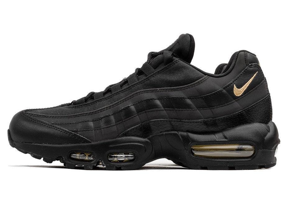 1a6161ae992f97aeedd5da6a8918da38 - Nike Air Max 95 復古氣墊慢跑鞋 黑金 男款 時尚百搭 924478-003