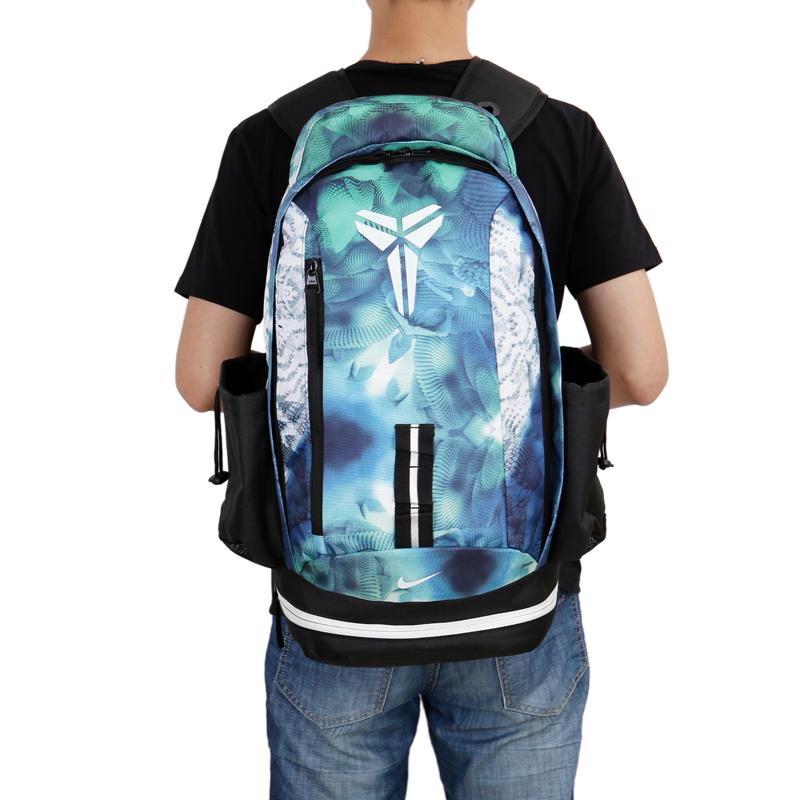 2898c5f8eb2404542b3294542e43a85f - Nike kobe 夜光版 雙肩包 籃球包 學生 書包 帆布 藍色 寬30*高47*厚22