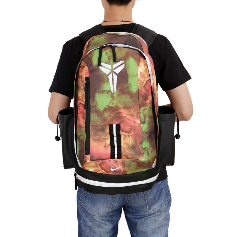 2927735021565e43fccecaaa1cdb2017 - Nike kobe 夜光版 雙肩包 籃球包 學生書包 帆布 黃色 寬30*高47*厚22
