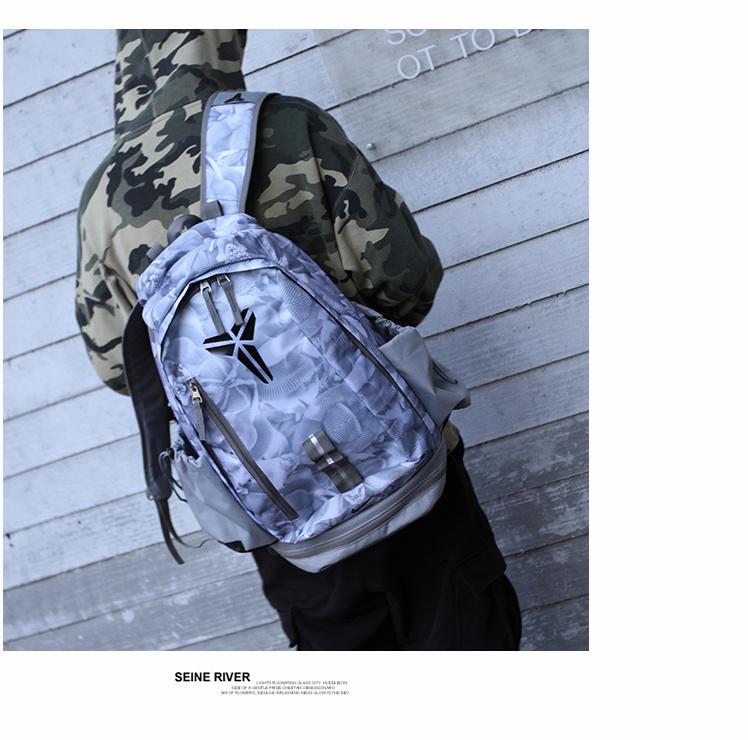 2a00001e2a5a8eec6751c7dc549f4455 - 羽毛款科比 Nike Kobe 籃球包 大容量 雙肩包 旅行包 學生書包 鞋袋包 灰白 49*27*19
