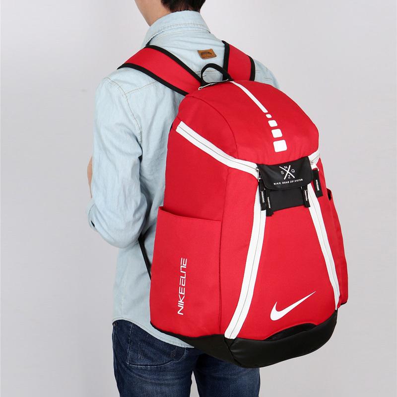 2f732f23fe0c61f231bb72b89282a32e - Nike 情侶款 雙肩包 大容量運動包 旅行包 鞋袋包 籃球包 紅白 寬38*高50*厚20