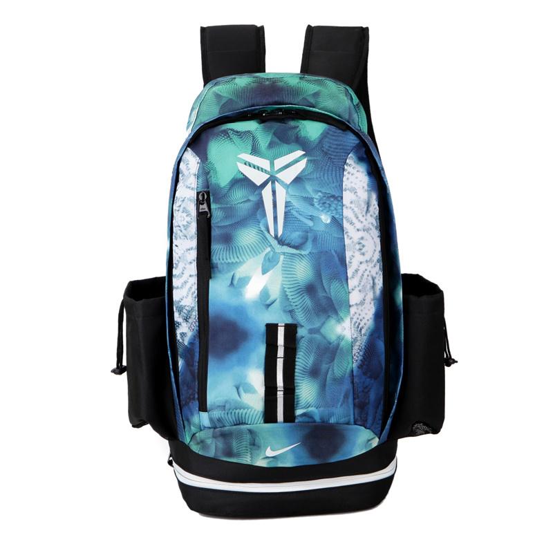 37c27520182091dc0d6615f0c03f890d - Nike kobe 夜光版 雙肩包 籃球包 學生 書包 帆布 藍色 寬30*高47*厚22