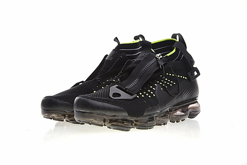4792a8385ab29708ed09bb75a8cdfde6 - Nike Air VaporMax 機能 拉鏈 中筒 氣墊慢跑鞋 黑綠 男款 休閒 百搭 899473-003