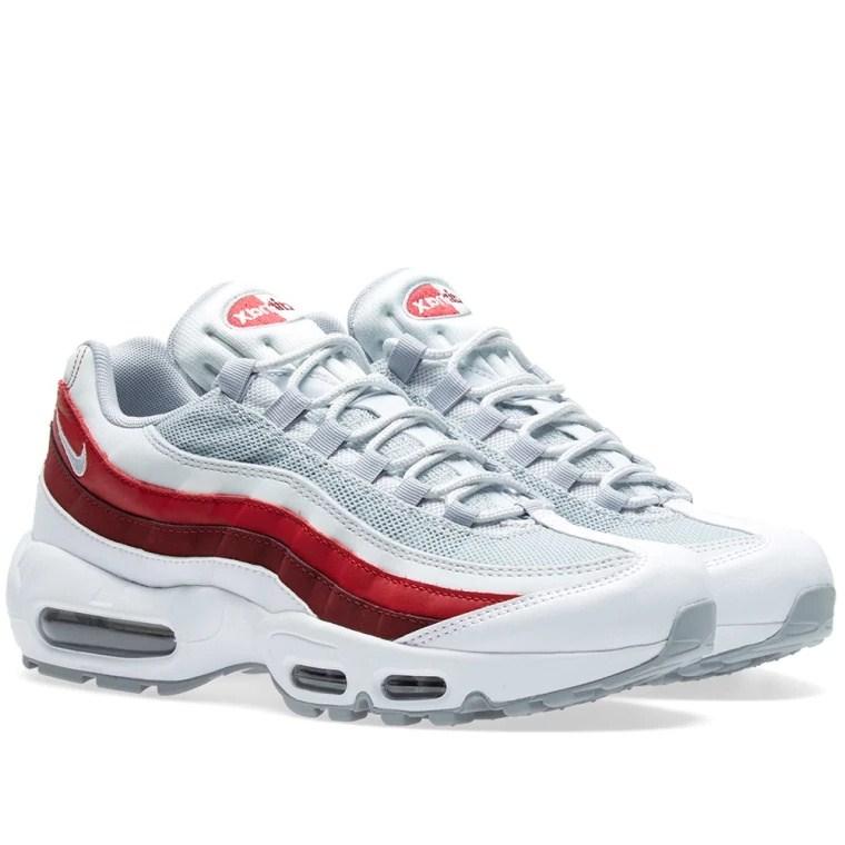 4a5da8416f993b9aacf16cbb27831499 - Nike Air Max 95 Essential 白灰紅 男鞋 氣墊慢跑鞋 時尚 百搭 749766-103