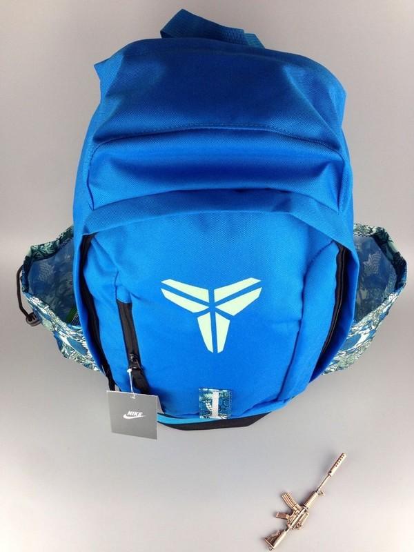 4a6f72a9516fa109cc34e9d1d7128ae1 - Nike Kobe 籃球包 大容量 雙肩包 旅行包 學生書包 鞋袋包 藍色 49*27*19