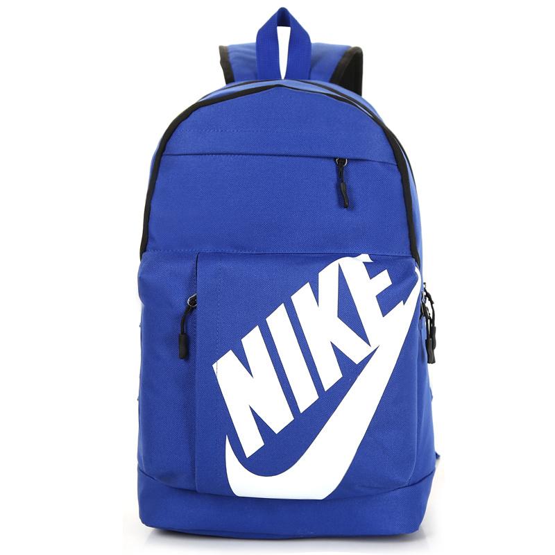 4e5c63f617be0f7b5b950bb8fdd6d324 - NIKE 大LOGO 雙肩包 情侶後背包 學生書包 旅行包 潮流包 藍色  45*2-*15