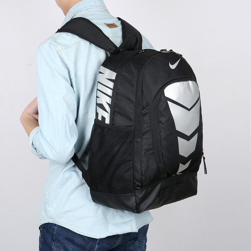5d2638e288fbdf6107319a139d81522e - Max Air Nike 雙肩包 學生書包 帆布電腦後背包 旅行包 黑銀色