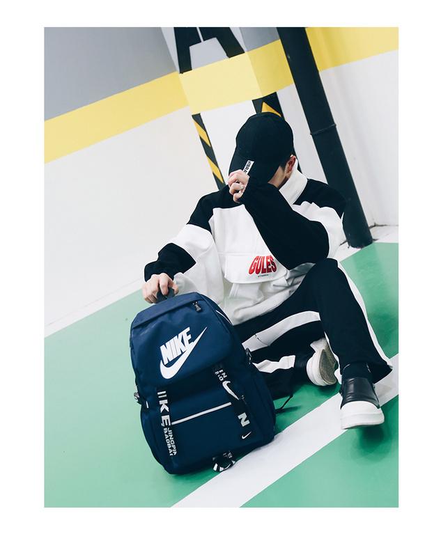 5dbad55de76758ae77e23210283f6aa4 - Nike 大logo 新款 雙肩包 情侶款 學生 書包 藍色 時尚 百搭 NK-61183