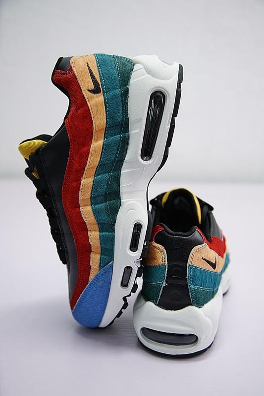 60e199de80e8dfea6b59930704162ef7 - Nike Air Max 95 復古 氣墊 慢跑鞋 棕毛 拼色 伽藍 男款 807443-003