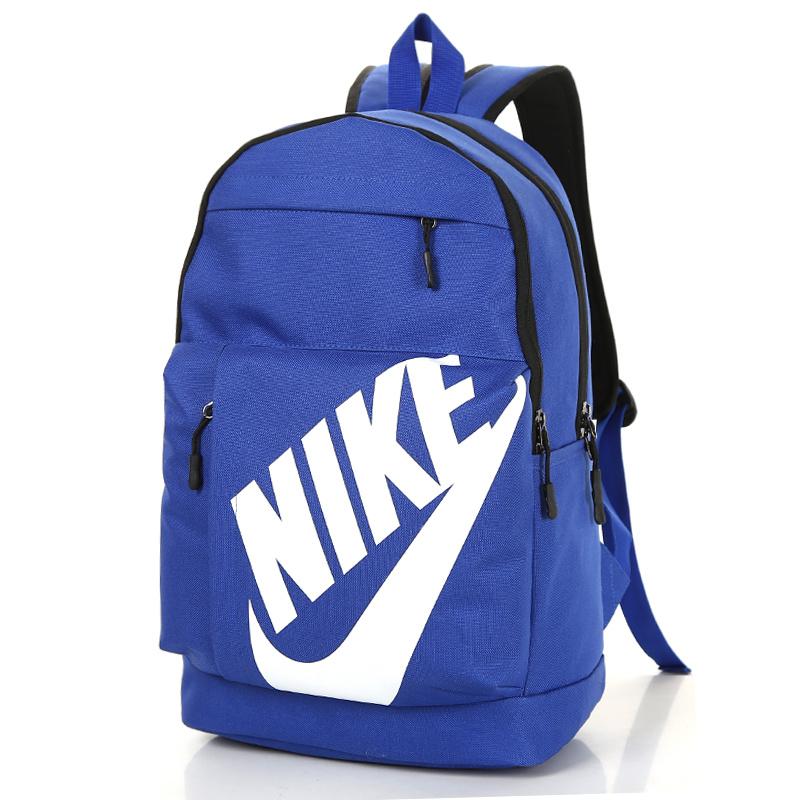 624fdf42cd55fed0e1225c10aaf45b39 - NIKE 大LOGO 雙肩包 情侶後背包 學生書包 旅行包 潮流包 藍色  45*2-*15