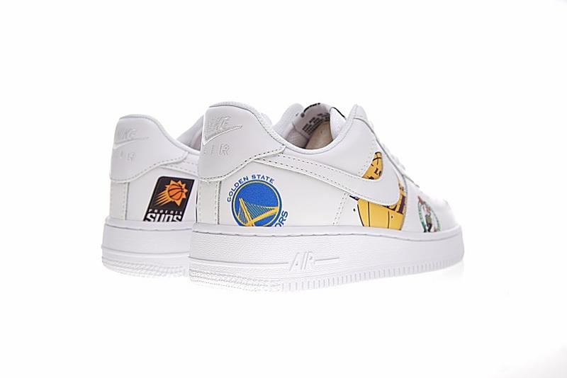 629f34b37caa835833095df0683233d1 - Supreme x NBA x Nike Air Force 1 AF1 NBA LOGO聯名款 塗鴉 低筒 休閒鞋 時尚 百搭 AQ8017-300