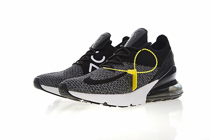 65611349946470b1a39c48c6aa95ac2d - Nike Air 270 Flyknit 飛織 氣墊 慢跑鞋 黑灰白 透氣 時尚 百搭AO1023-001