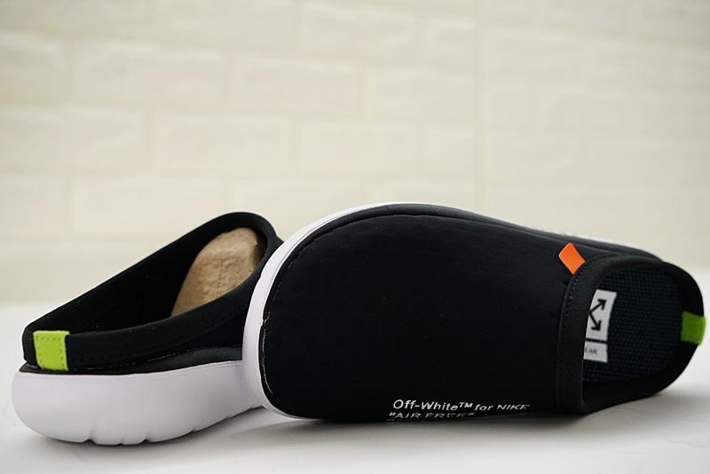 67b3c1e38244d4141e01bc80369e8f20 - Offwhite x Nike Air rejuvens3代鳥巢拖鞋 黑色 男款 防滑 時尚 百搭 441377-001