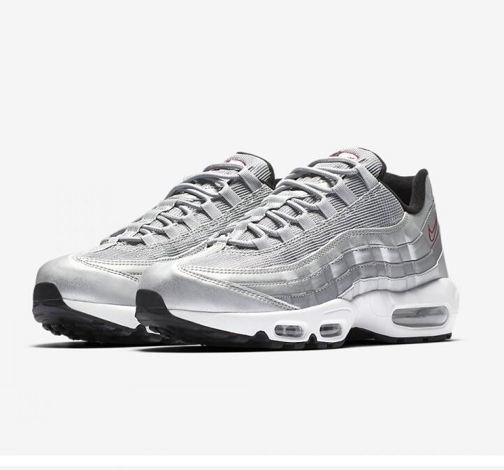 694195af0232db286653a8b283e4a614 - Nike Air Max 95系列 復古氣墊慢跑鞋 太空銀白 男款 運動潮鞋 時尚百搭 918359-001